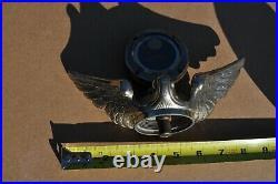 1910 1920's antique vintage moto meter radiator cap ornate winged cap Ternstedt
