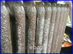 2 Vintage cast iron ornate French radiators floor standing possibly Victorian