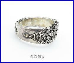 925 Sterling Silver Vintage Antique Ornate Detail Bangle Bracelet BT2495