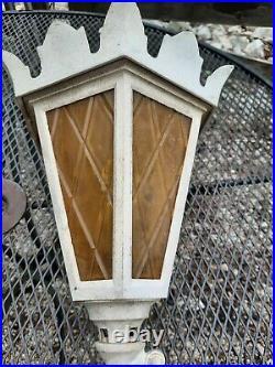 ANTIQUE Vintage Ornate Art Deco CAST AL Wall Light SCONCE Lamp Outdoor FIXTURES