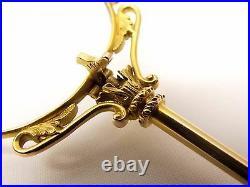 Antique 14K Gold Folding Glasses Spectacles Specs Ornate Vtg Reading Lorgnette