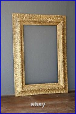 Antique Arts Crafts Picture Frame Oil Painting 48 X 34 Large gold Vintage Ornate