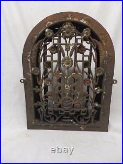 Antique Cast Iron Heat Arch Top Dome Ornate Grate Vent Register Vtg 12x9 370-17P