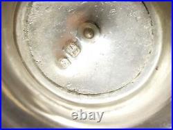 Antique Portuguese 833 Silver Vase Ornate Repousse Hollowware 14 Vtg Shell Port