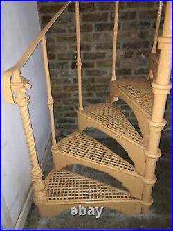 Antique Spiral Staircase, Cast Iron Victorian, Ornate. Dismantled And Ready