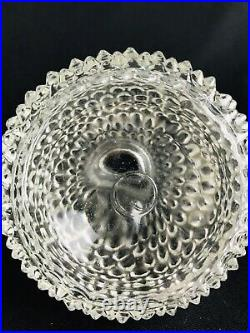Antique Vintage Glass Crystal Clear Glass Perfume Bottle Stopper Hob Nob Ornate