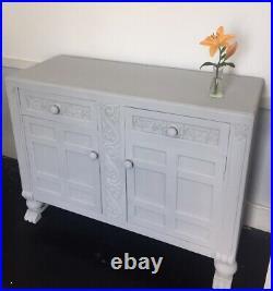 Antique Vintage Ornate Style Carved Dresser Sideboard in Dove Grey