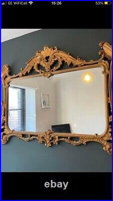 Antique Vintage Retro Large Ornate Gold Gilt Mirror