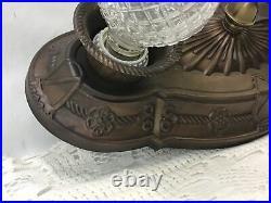 Antique Vtg Arts & Crafts Deco Gothic Flush Mount Ceiling Wall Fixture Bronze
