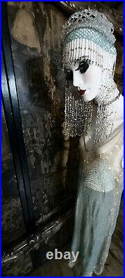 Antique/vintage 100% Silk Sequin/beaded Ornate Detailed Flapper Dress