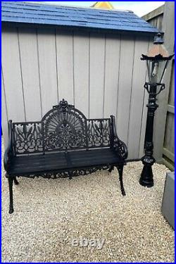 Coalbrookdale Peacock Style, Ornate Design Cast Iron Vintage Bench