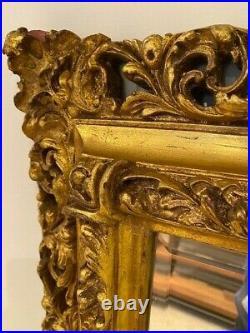 Extra Large Ornate Full Length Gold Wood Vintage Mirror Antique 150cm x 118cm