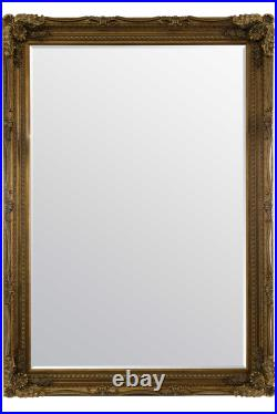 Extra Large Wall Mirror Gold Antique Vintage Full Length 6ft7 x 4ft7 148 x 208cm