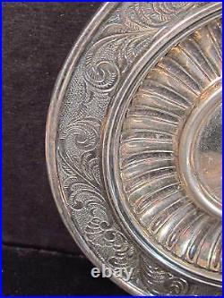Fasana Roberto Vintage Como Italy. 800 Silver CUP AND SAUCER Ornate Design
