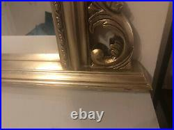 Gold Mirror Large Vintage/Antique Looking Beautiful Ornate Wooden Look Frame