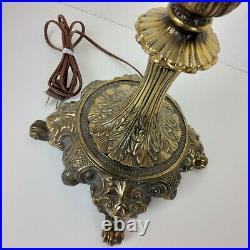 Heavy Ornate Bronze Lamp Vintage Antique Unmarked