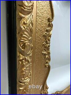 Large Florentine Gilt/Gold Ornate Carved Wood Picture Frame 28.5x25 Antique VTG