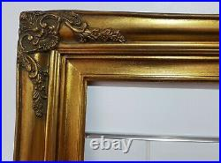 Large Ornate Old Vintage Gold Gilt Picture Frame- To Fit 36 x 24 inch Painting