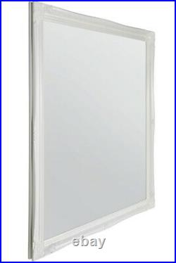 Large White Antique vintage Design Ornate Wall Big Mirror 4Ft6 X 3Ft6