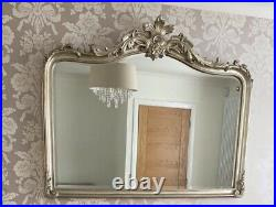 Laura Ashley Champagne French Louis Vintage Style Ornate Large Wall Mirror