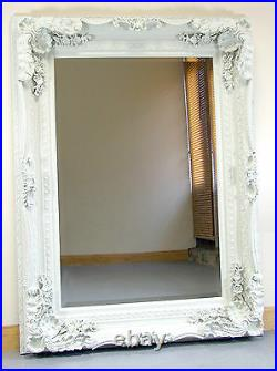 Louis Ornate Shabby Chic Vintage Large French Wall Mirror Cream 35 x 47