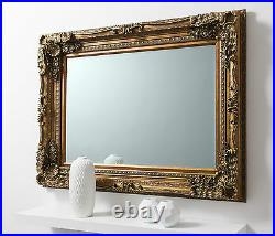 Louis Shabby Chic Vintage Ornate Large French Wall Mirror GOLD 118cm x 87cm