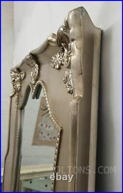 Luxury X-Large Antique Ornate Champagne Silver Vintage Leaner Mirror 200x100cm