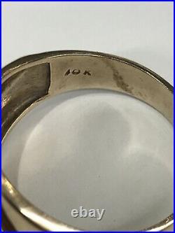 Masonic Mason Antique Vintage 1920's Art Deco Ornate 10k Solid Gold Men's Ring