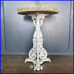 Ornate Antique Reclaimed Vintage Cast Iron Garden Table MILL Stone Top Rwi5539