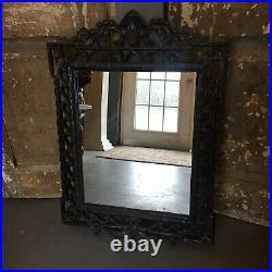Ornate Art Nuveau Vintage Style Mirror French 31x21 Fleur De Lis Hall Console