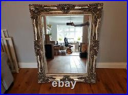 Ornate Large Vintage Wall Leaner Champagne Mirror 100cmx130cm approx