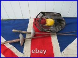 Ornate Old School Fencing Mask And Two Foils Antique Vintage Sporting Antiques