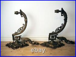 Pair of Beautiful Unique vintage brass ornate wall lights mermaid style