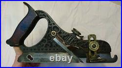 Rare Antique Vintage Stanley No. 43 Type 4 Miller Patent Ornate Plow Plane