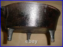 Rare Antique Vtg 1800s Stamped 3&1 Footed Cast Iron Skillet with Gate Mark Ornate