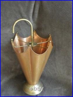 Umbrella stand Rack cooper brass Ornate vintage retro old