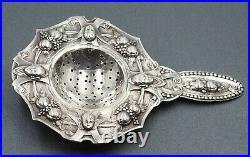 VINTAGE Ornate Silver Strainer Tea & Absinthe Strainer Silver c1890-1900s