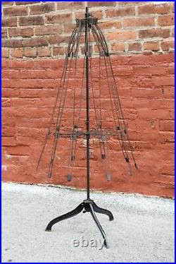 Victorian Dress Form Mannequin Skirt Cast Iron Base 1881 Antique Vintage Ornate