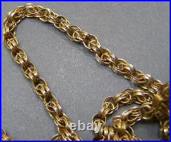 Vintage 14K Gold Victorian Cameo Seed Pearl Slider Slide Necklace Ornate Chain