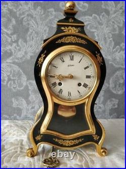 Vintage 1940s/50s Swiss Le Castel St. Aubin Ornate Gilded Mantel Clock