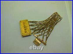 Vintage Antique 19C Georgian Victorian Mourning Woven Hair Fancy Ornate Bracelet