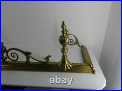 Vintage Antique Ornate Fireplace Surround / Fender / Foot Guard 1.3m X 0.36m H25