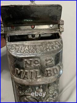 Vintage Antique Standard No. 2 Cast Iron Ornate Mailbox 12 x 6