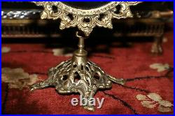 Vintage Antique Vanity Table Mirror Ornate Accurate Cast Brass Victorian