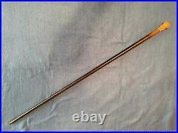 Vintage Antique Walking Stick Cane Very Ornate Gold Engraved Handle 1891