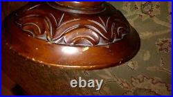 Vintage Carved Wooden Ornate Pedestal Display Flower Table Plant Stand 27.9