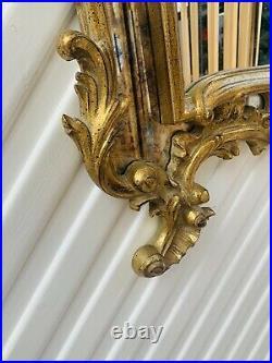 Vintage French Rococo Baroque Style Wavy Gold Ornate Mirror 137cmx82cm