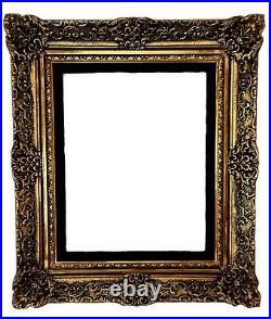 Vintage Gold Gilt Ornate Victorian Baroque Eastlake Wood Picture Frame 29x25