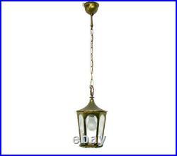 Vintage Lantern Ornate Etched Glass Stars Chandelier Light Pendant HTF