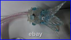 Vintage Murano Ornate Chandelier Wall Light Sconce Pink Blue Flowers Italy